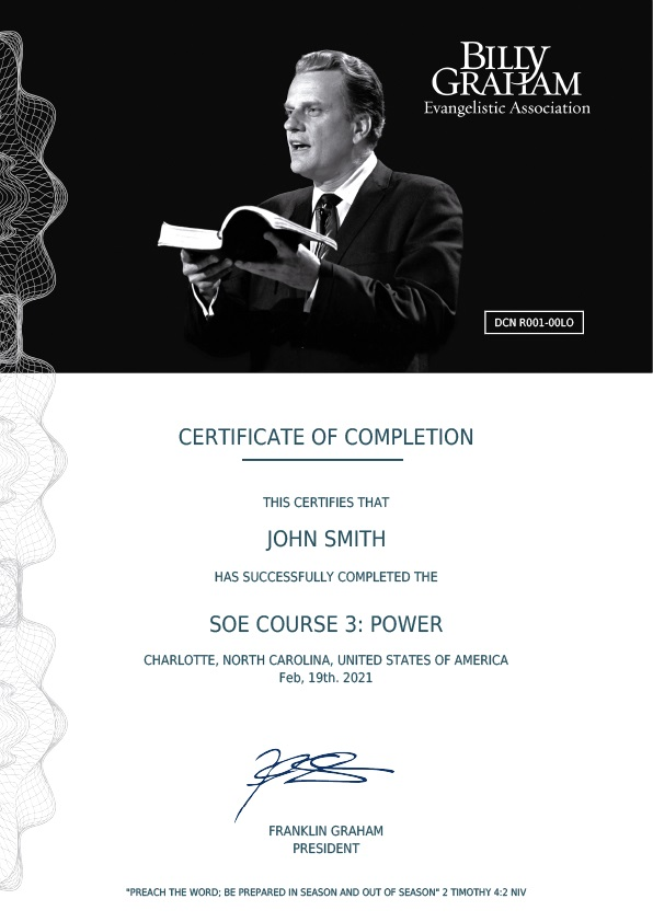 Certificate Three